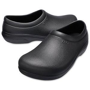 Crocs Unisex's On The Clock Work Slip on Shoe